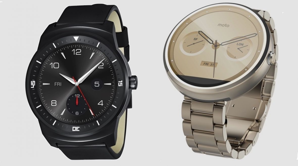 Moto 360 v LG G Watch R: Battle of the round Android Wear smartwatches