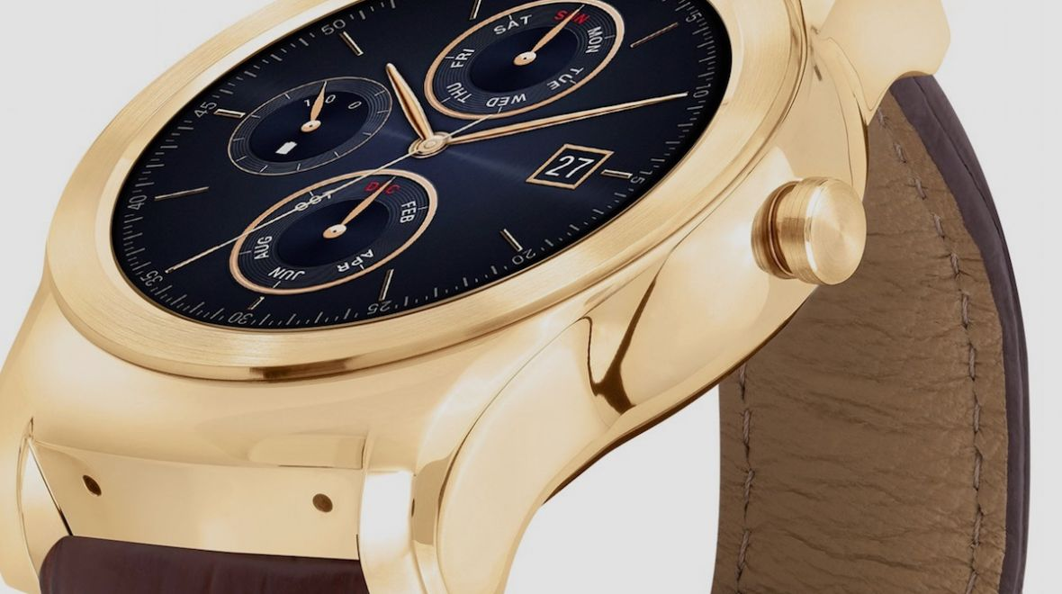Lg watch urbane luxe takes on apple watch with 23 karat gold model