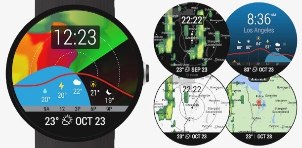 top android wear watch face