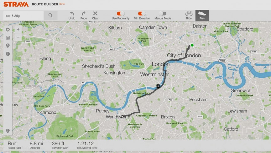 Build A New Route On Strava