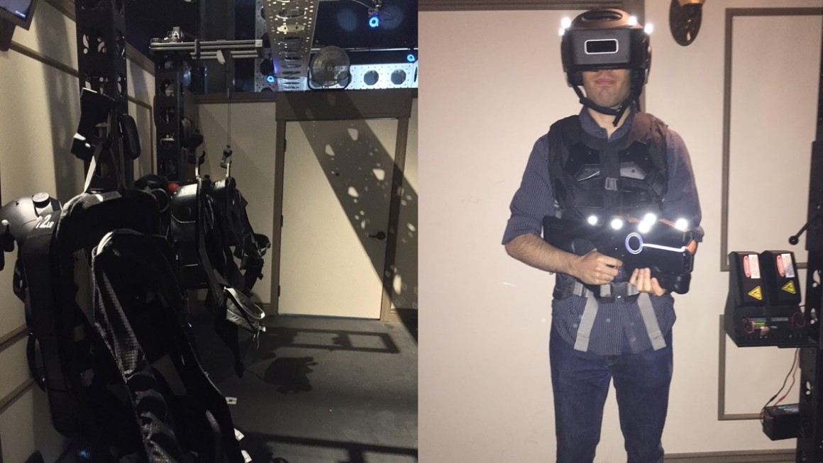 We tried the Ghostbusters VR experience and it was awesome
