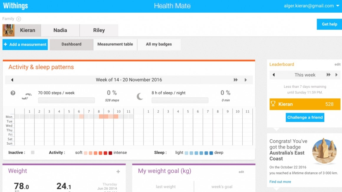 withings health mate guide