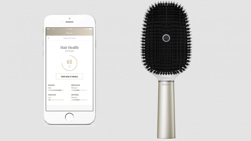 Withings made a smart hairbrush that criticises your cack-handed technique