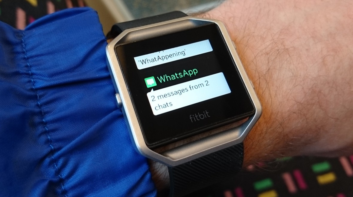 Fitbit Blaze WhatsApp messages now available