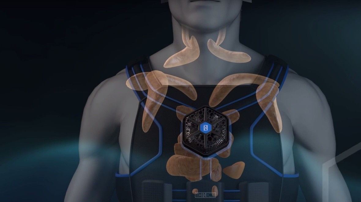 Thin Ice vest cools the body to burn fat
