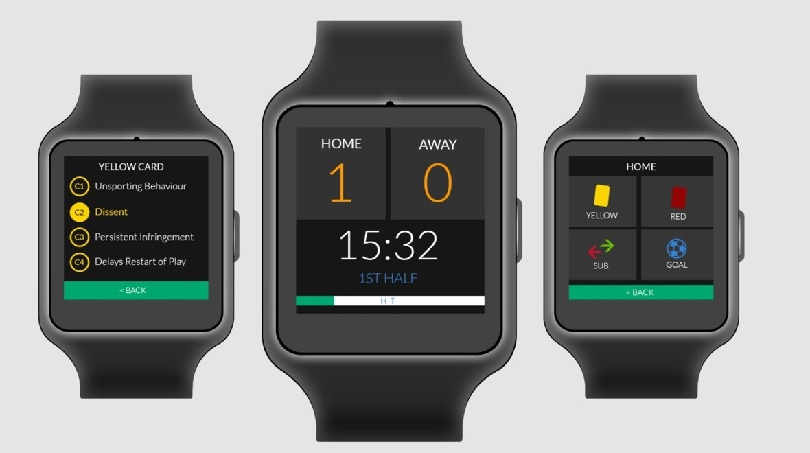 Refsix is a smartwatch for football referees