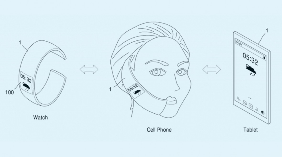 Patent reveals mighty morphing Samsung