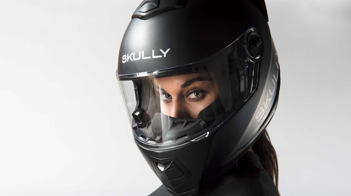 Skully AR-1 motorcycle helmet crashes out