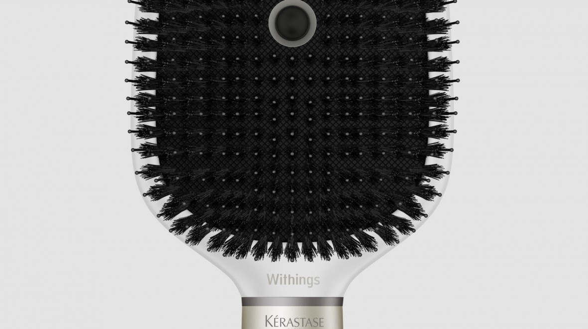 Withings unveils a smart hairbrush