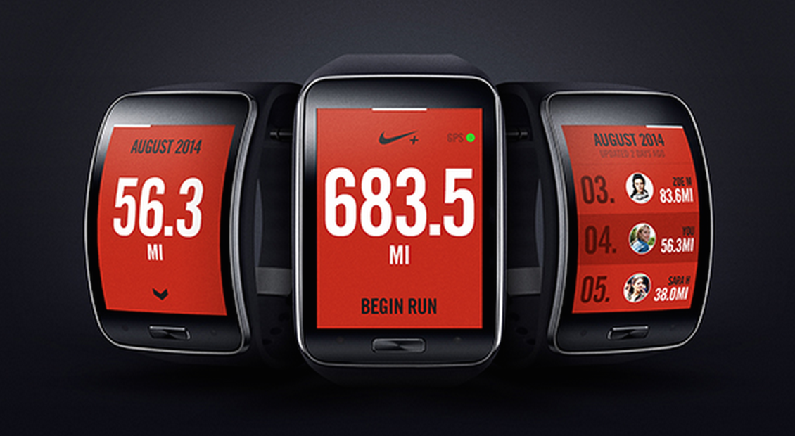 Nike+ Running built into Samsung Gear S