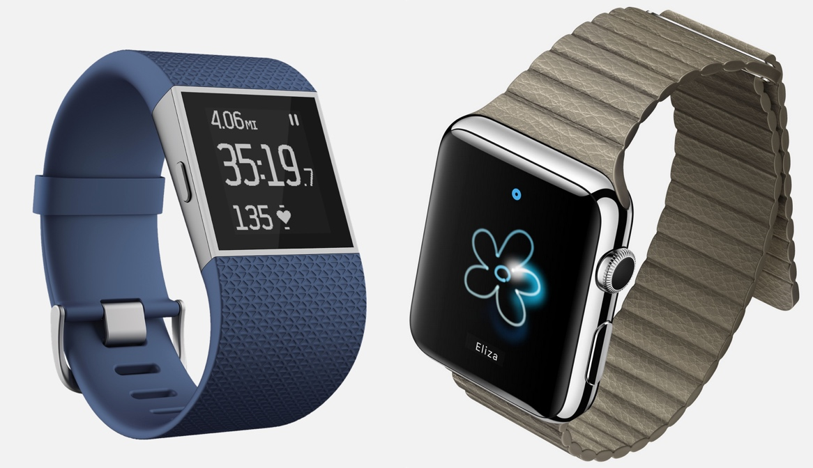 Apple Watch v Fitbit Surge