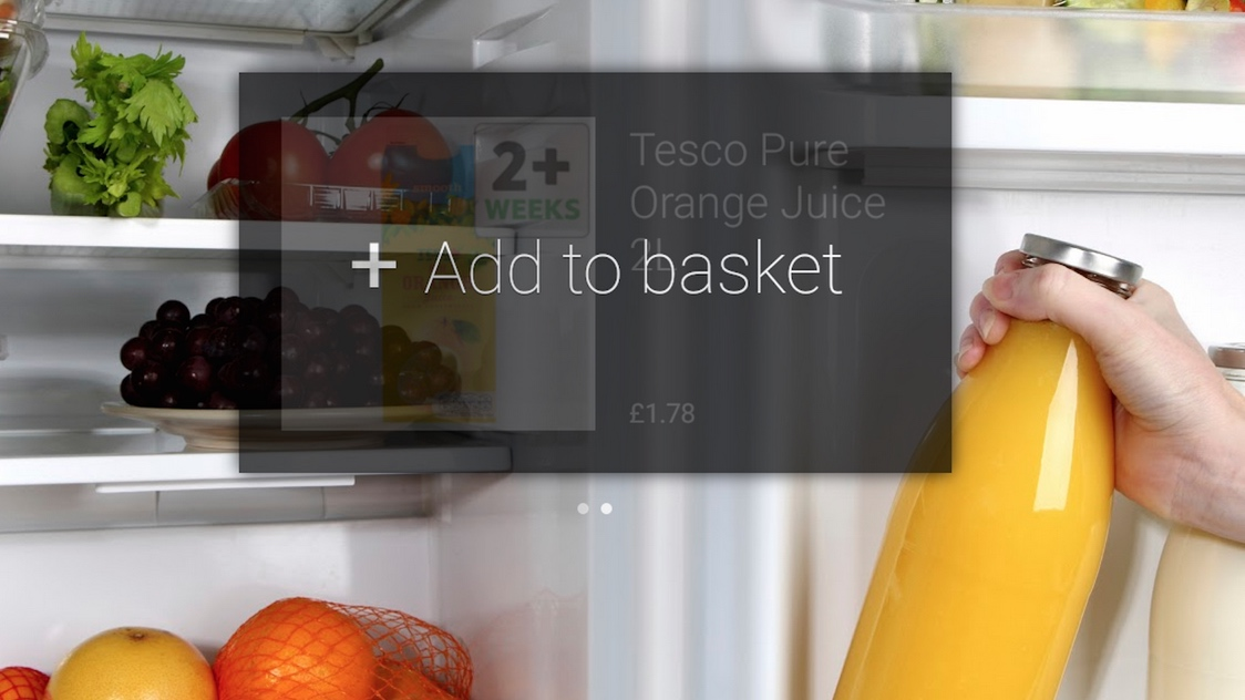 Tesco Grocery Google Glass app launched