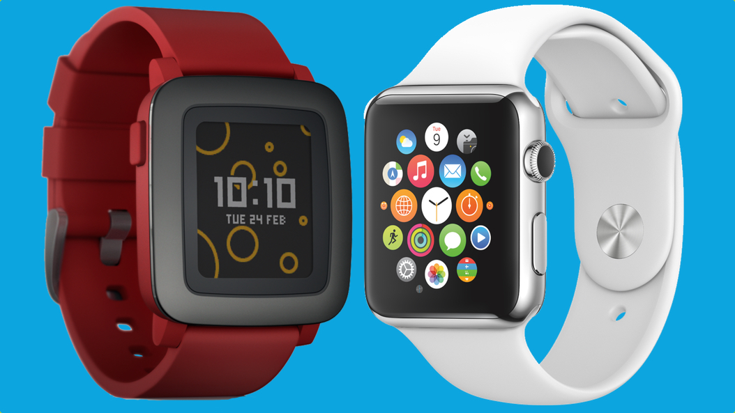 Pebble Time v Apple Watch