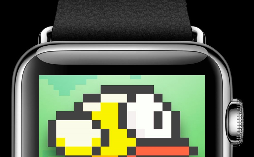 Flappy Bird plays on Apple Watch