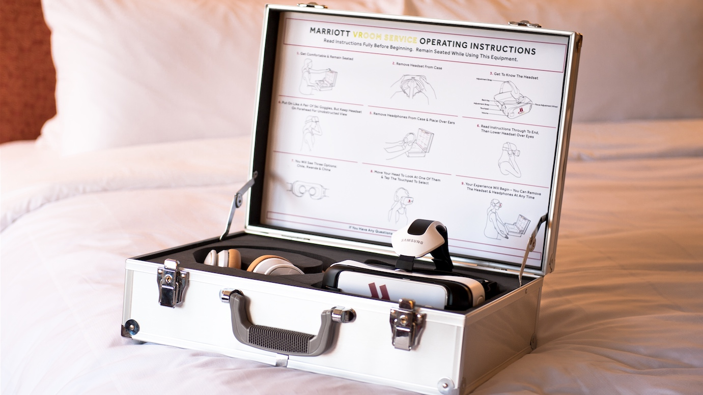 Order a VR headset as room service