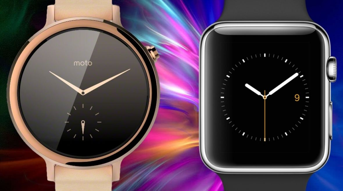 ​Moto 360 v Apple Watch