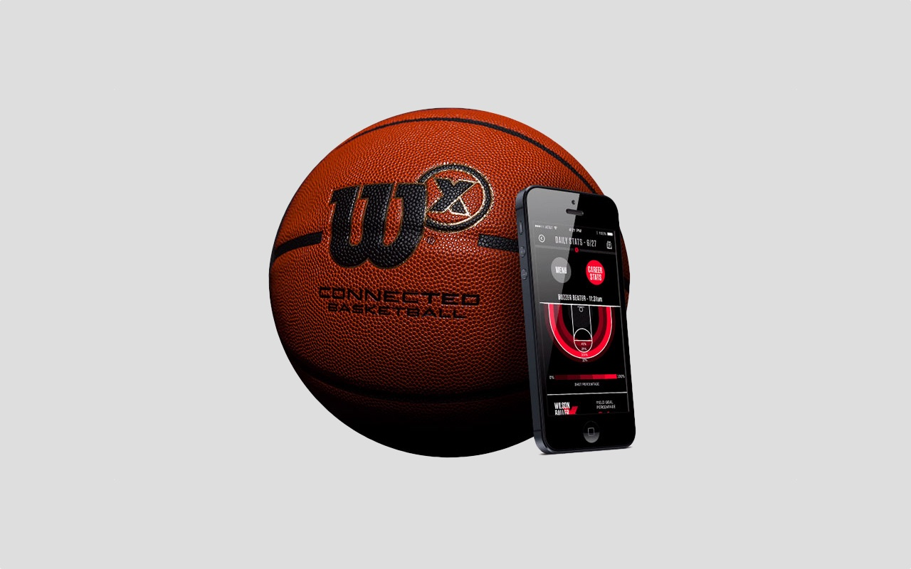 Wilson X smart basketball slam dunks