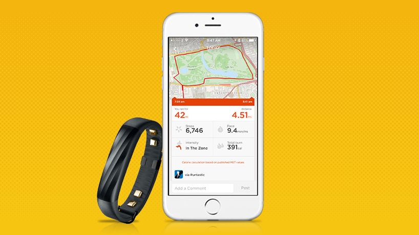 ​Jawbone pals up with Runtastic
