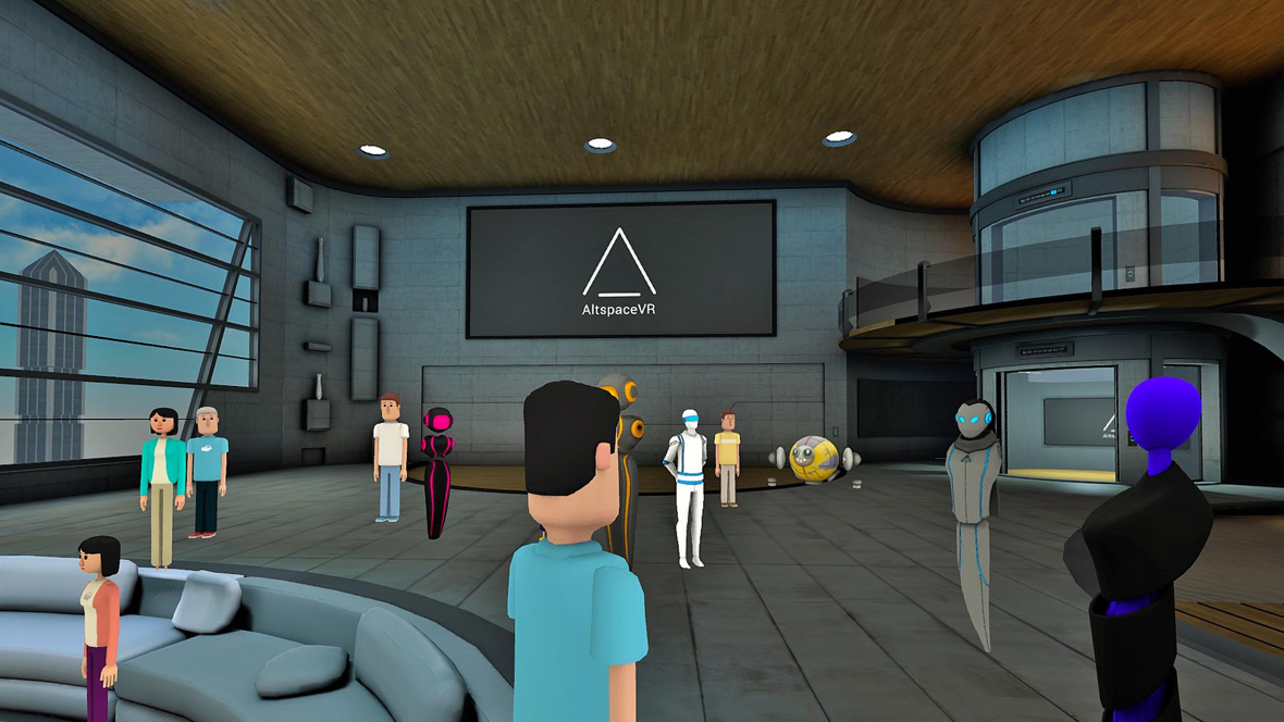 Join friends in AltspaceVR on HTC Vive