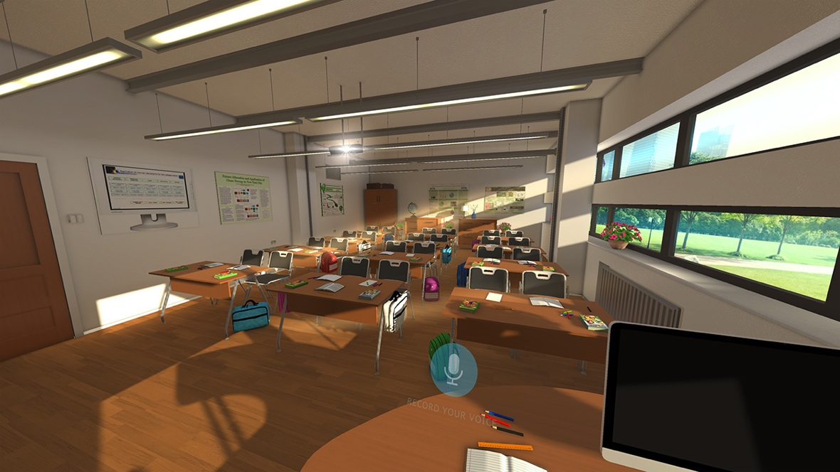 Taking a seat inside a VR classroom