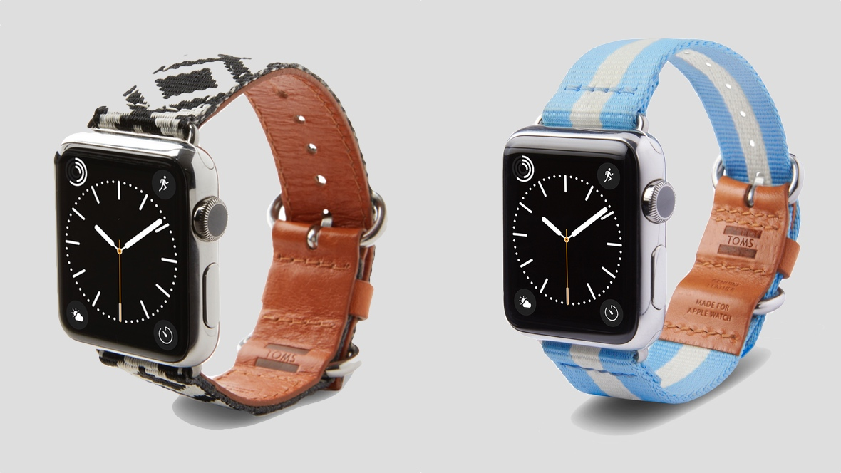 Toms launches exclusive Apple Watch bands