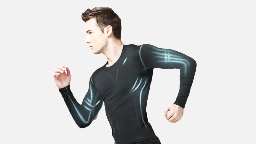 Coollang smart clothing counts crunches
