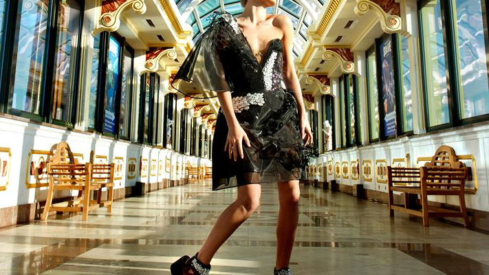 An emotion sensing graphene dress