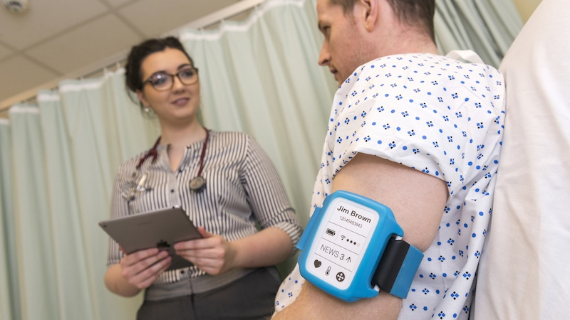 NHS trials health monitoring wearable