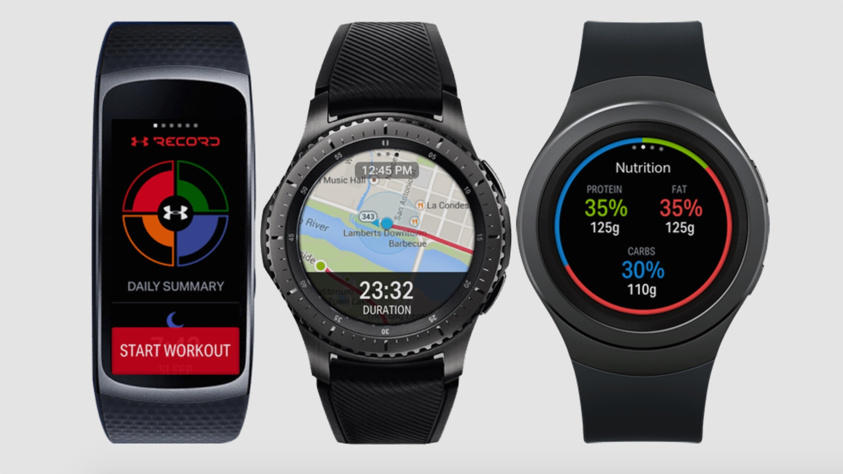 ​Under Armour apps land on Samsung wearables