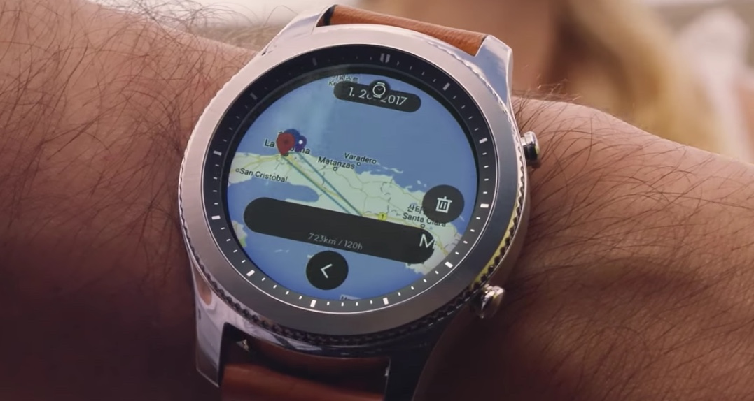 New Samsung Gear S3 watchface trio land