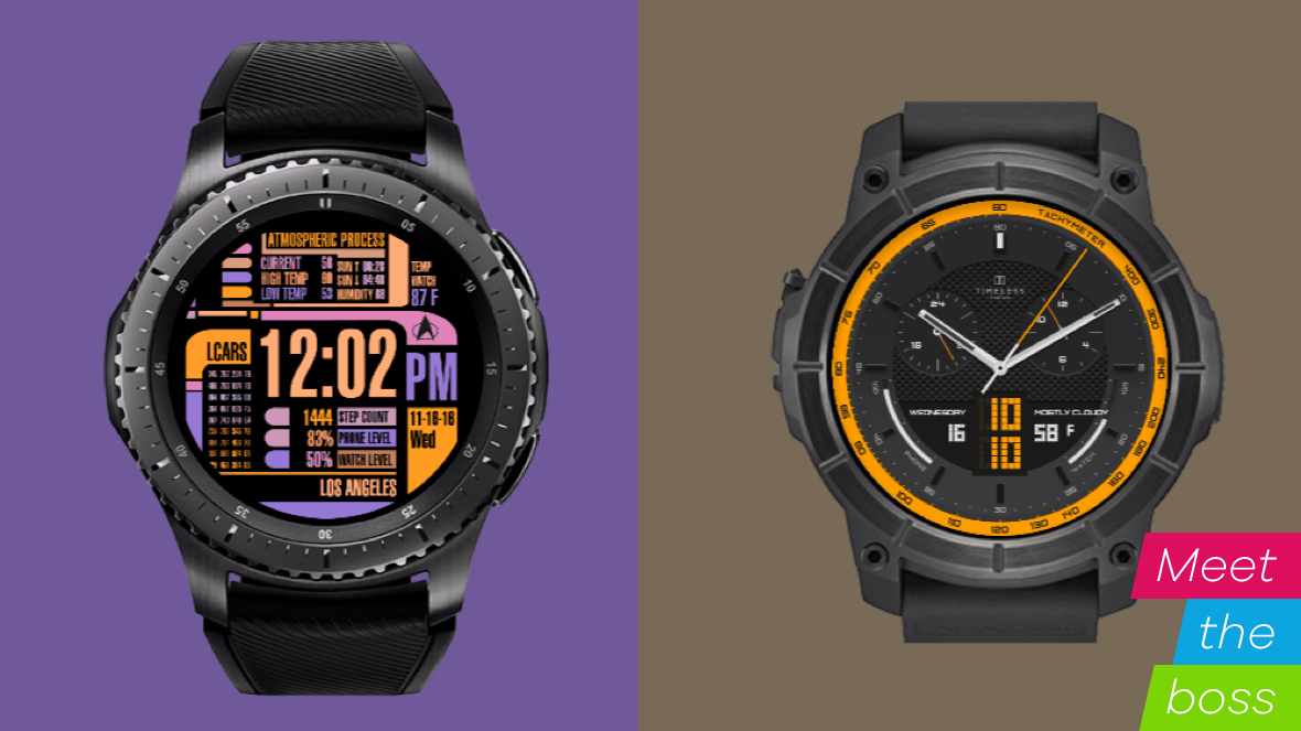 A smartwatch app chat with Facer