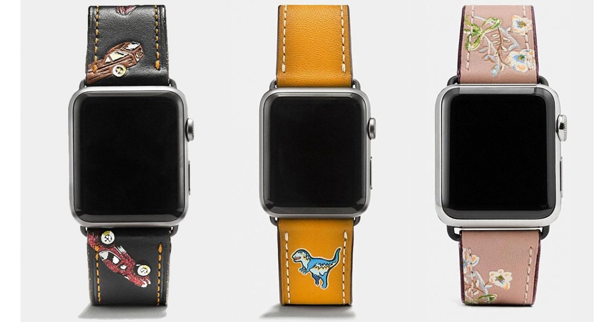 Coach goes live with new Apple Watch strap designs for