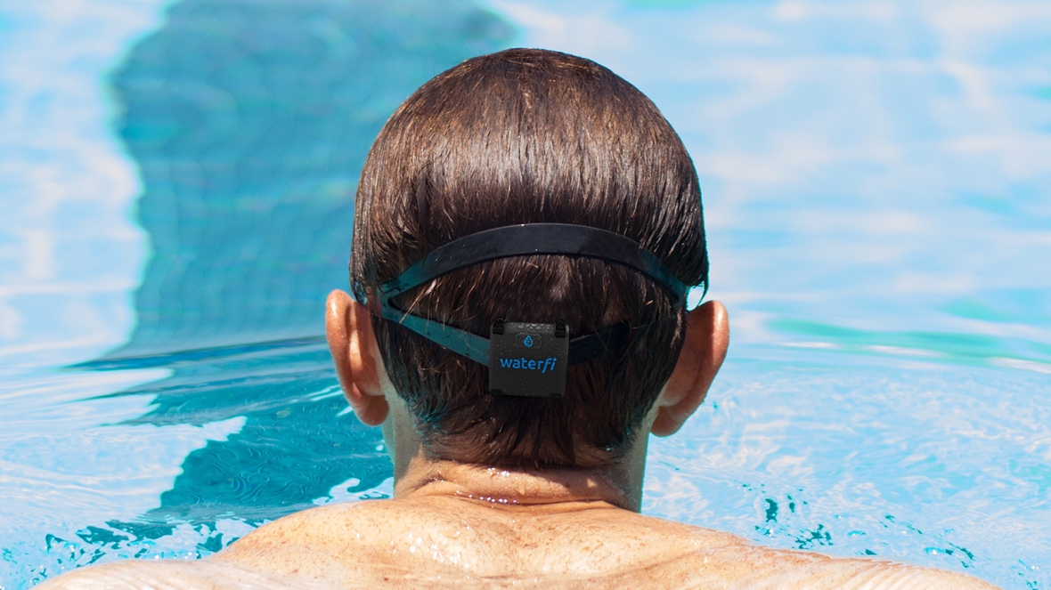Waterfi unveils head-mounted Swim Tracker