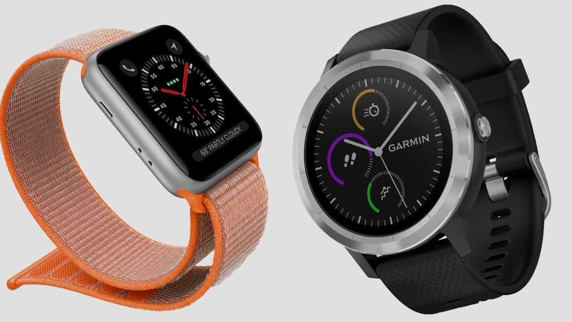 60f1b0dbe Apple Watch Series 3 v Garmin Vivoactive 3: The sporty smartwatches do  battle