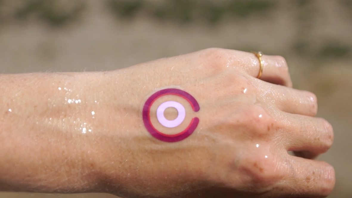 LogicInk temp tattoo can track UV exposure