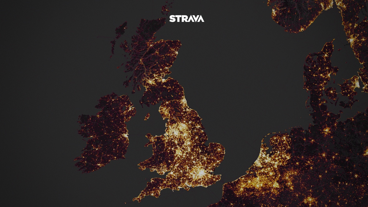 Strava's new Global Heatmap unveiled