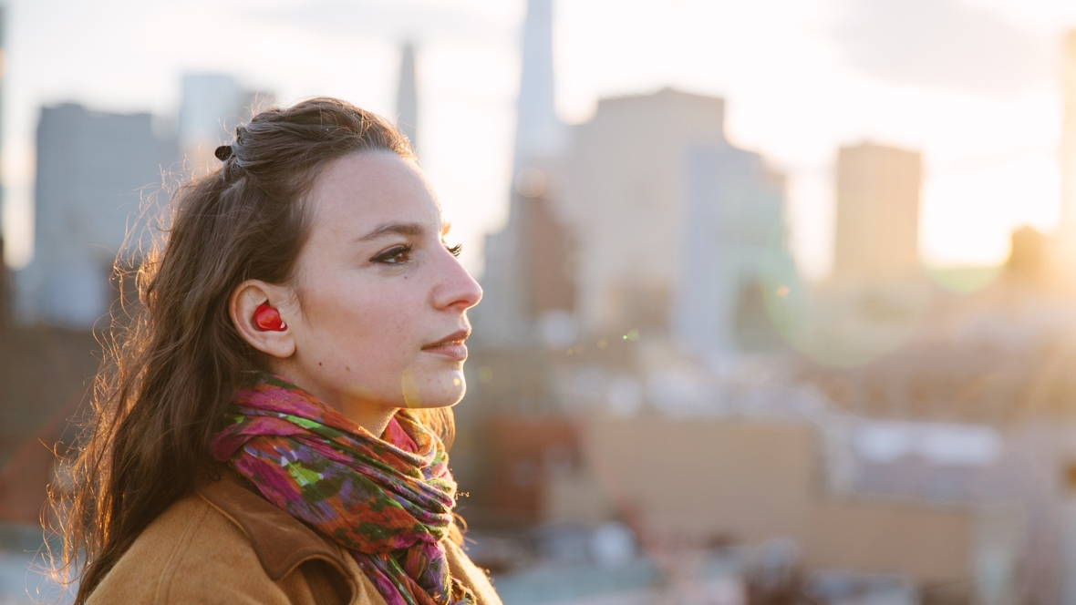 Dating with translation earbuds