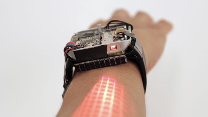 Lumiwatch turns your arm into a touchscreen