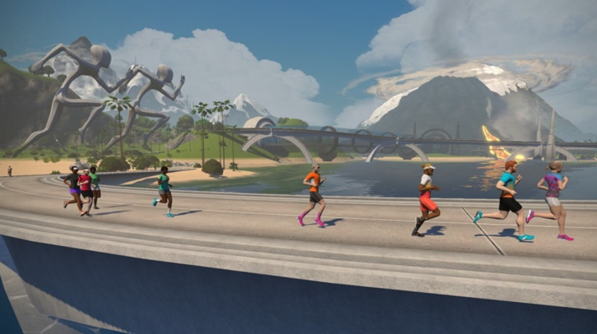 Zwift introduces dedicated running routes