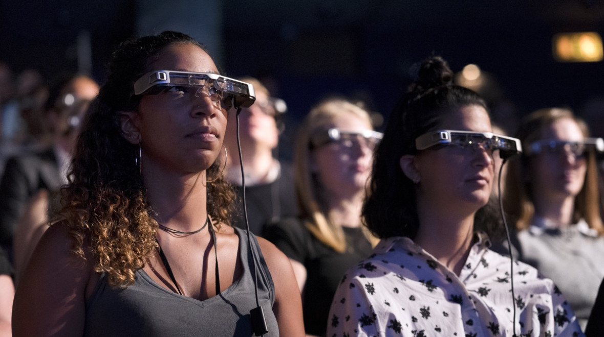 Using National Theatre's smartglasses