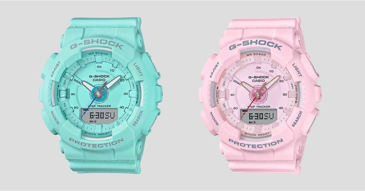 Casio's new G-Shock Women hybrids are inspired by spring colors