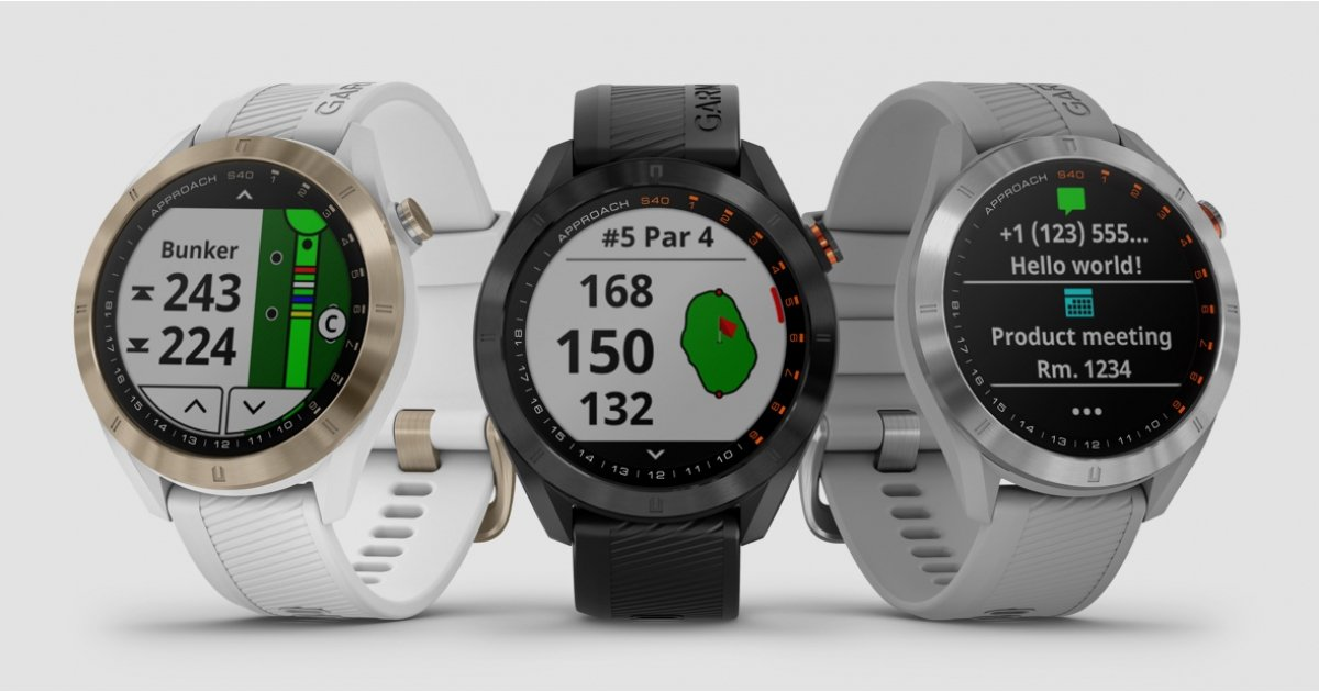 Garmin Approach S40 golf watch is designed for use on and off the course