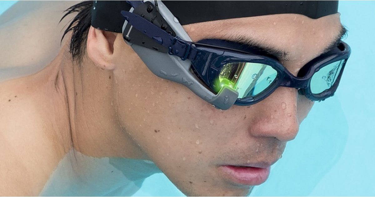 Instabeat brings heart rate monitoring to your swimming goggles