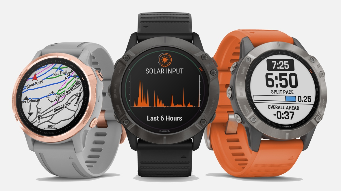 Garmin Fenix 6 comes with solar powers