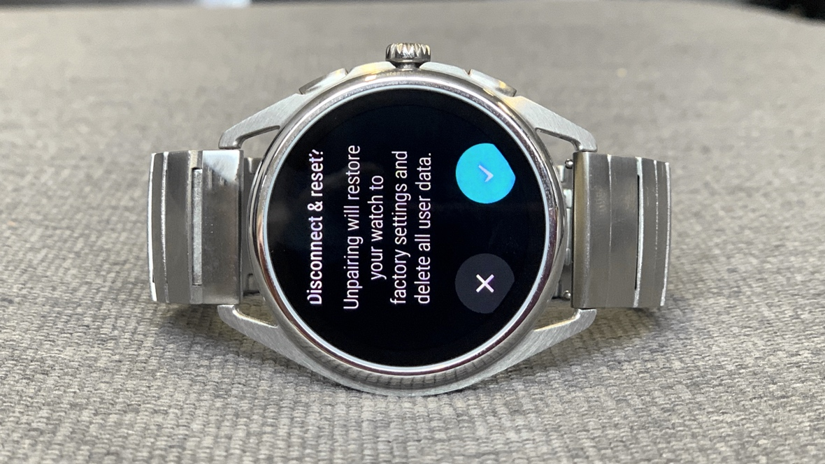 Reset a Wear OS smartwatch