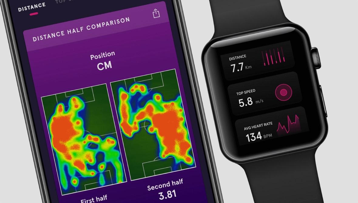 Playr's football tracker for Apple Watch