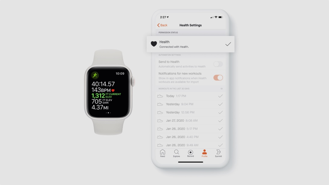Strava now connects to Apple Healthkit