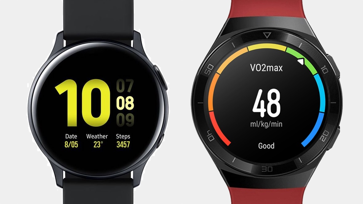 Huawei Watch GT 2e v Galaxy Watch Active 2