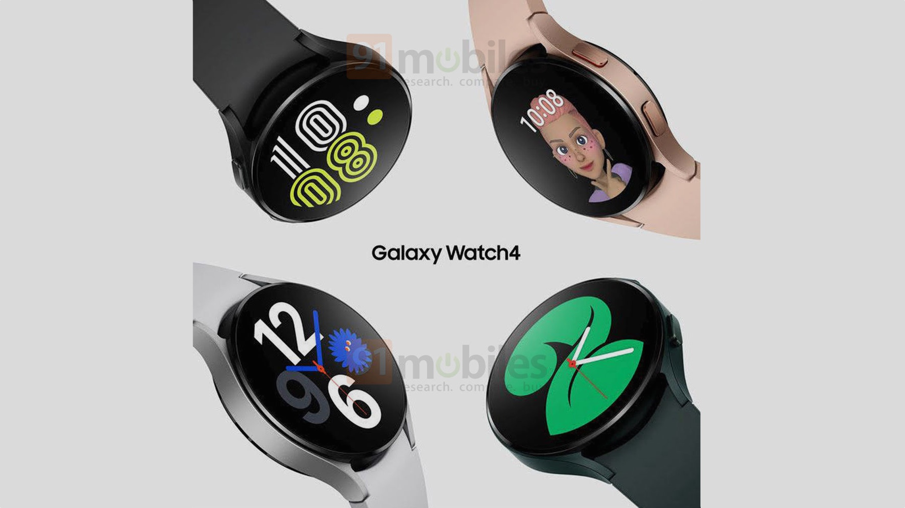 More Galaxy Watch 4 images leak