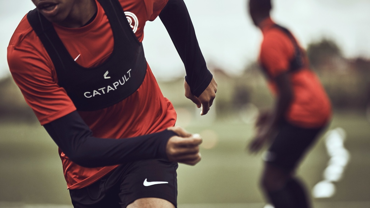 Catapult One is a wearable for footballers